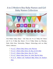 A to Z Modern Boy Baby Names and Girl Baby Names Collection.pdf