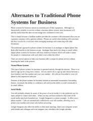 Alternates to Traditional Phone Systems for Business.pptx