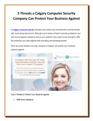 5 Threats a Calgary Computer Security Company Can Protect Your Business Against.pdf