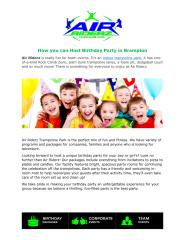 How you can Host Birthday Party in Brampton.pdf