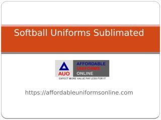 Softball Uniforms Sublimated.pptx