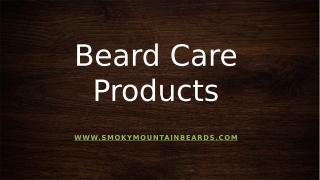 Beard Care Products.pptx