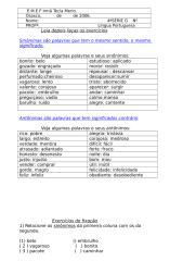 sinonimos e antonimos - exercicios.doc
