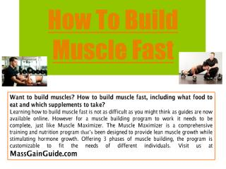 How To Build Muscle Fast.pdf