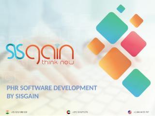 PHR Software Development by SISGAIN.pptx