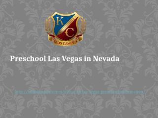 Preschool Las Vegas in Nevada USA.pptx