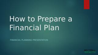 How to Prepare a Financial Plan.pptx
