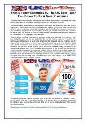 Thesis Paper Examples by The UK Best Tutor Can Prove To Be A Great Guidance.pdf