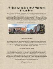 The best way to Strategy A Productive Private Tour.pdf