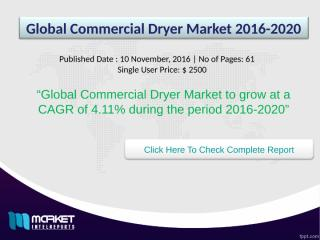Global Commercial Dryer Market 2016-2020.ppt