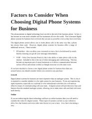 Factors to Consider When Choosing Digital Phone Systems for Business.pptx